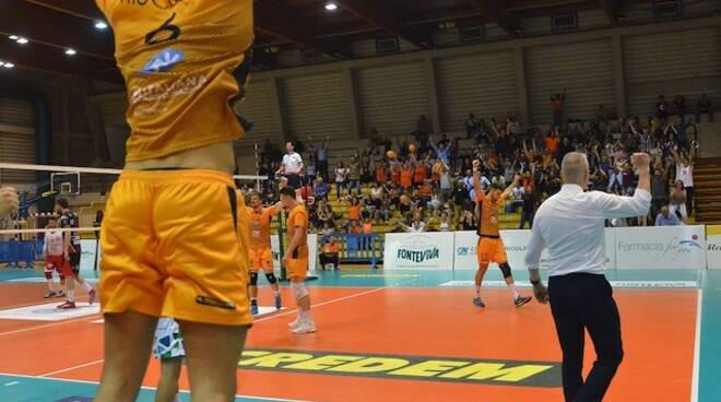 La Fonteviva esulta nella vittoria di gara 3 contro Lagonegro