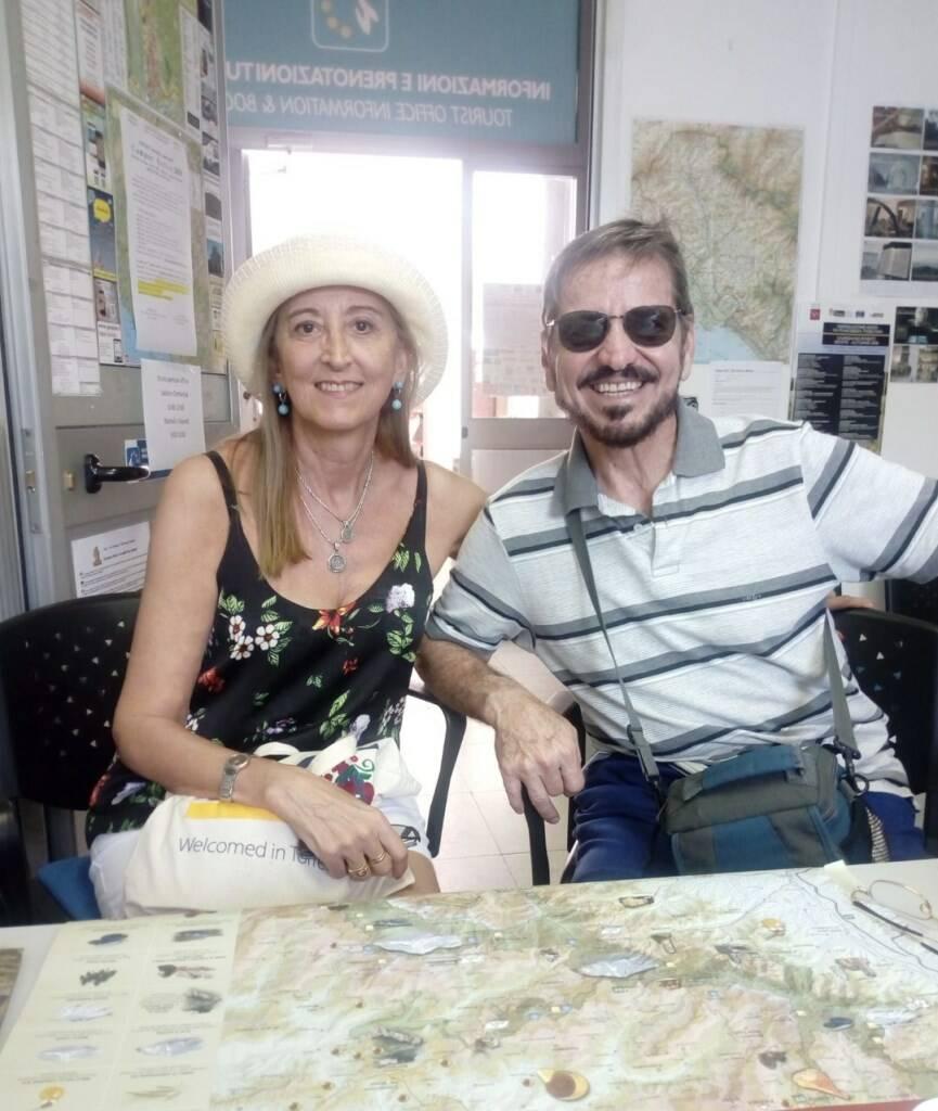 I due crocieristi argentini arrivati ad Aulla