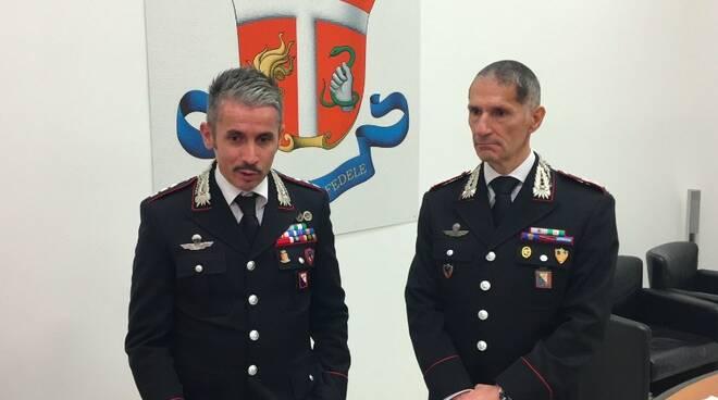 Il col. Massimo Rosati e il col. Tiziano Marchi