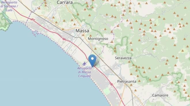 L'epicento della scossa di terremoto avvenuto il 7 giugno 2019
