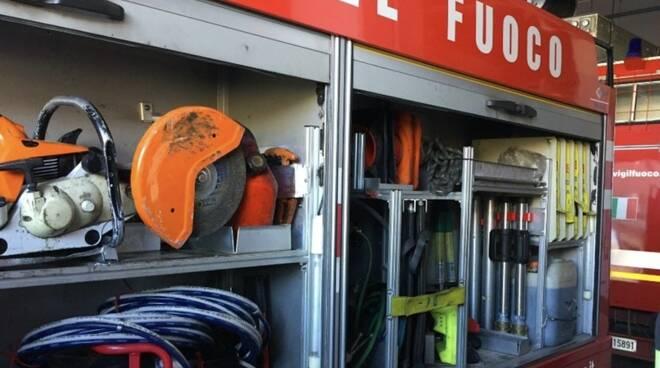 Le strumentazioni dei vigili del fuoco
