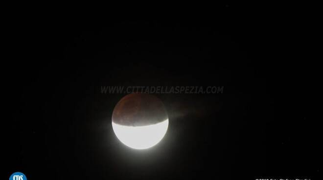 L'eclissi parziale di luna del 16 luglio 2019