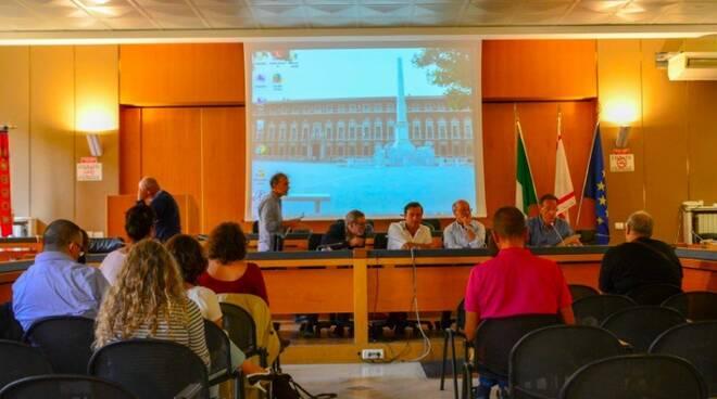 La conferenza stampa in Provincia con il consigliere regionale Giacomo Bugliani e il presidente della consulta disabili Pierangelo Tozzi