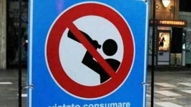 Bottiglie di vetro vietate