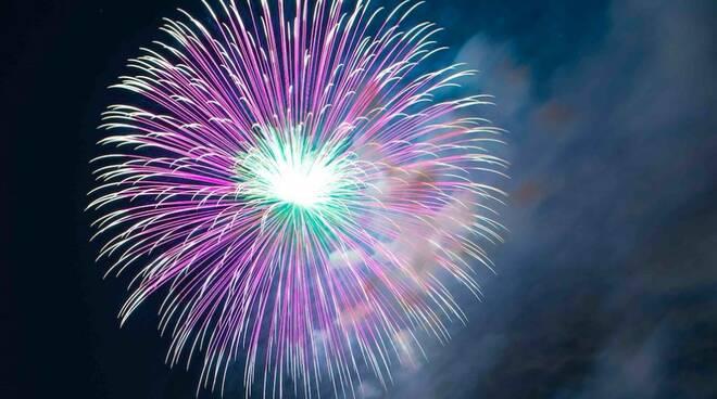 Fuochi d'artificio a Marina di Massa