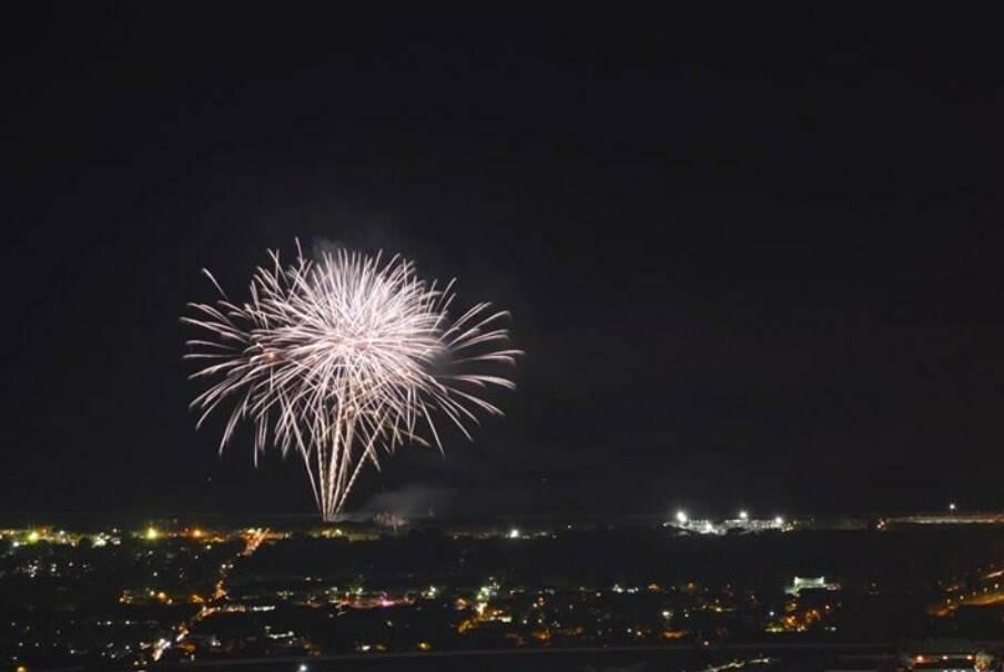 I fuochi d'artificio della Partaccia (2018) visti da Campocecina