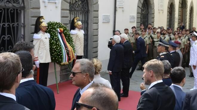 Il presidente Sergio Mattarella a Fivizzano
