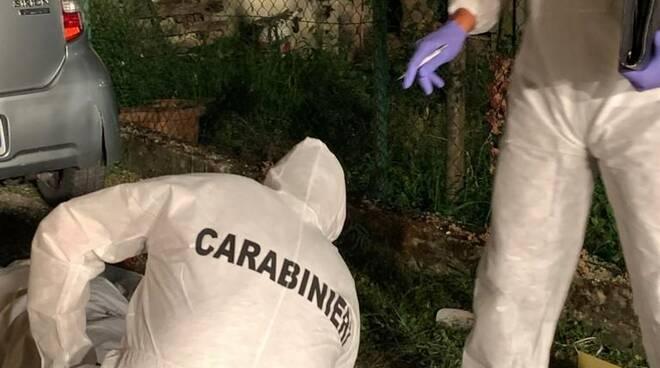 Omicidio a Montignoso, sopralluogo dei Carabinieri