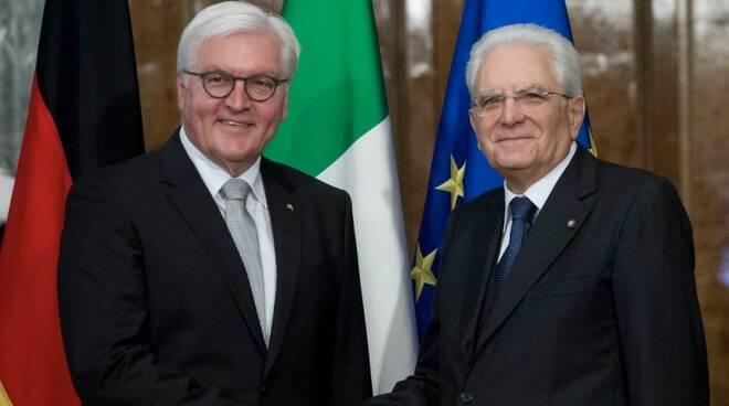 Sergio Matterella col presidente della Repubblica tedesca Steinmeier