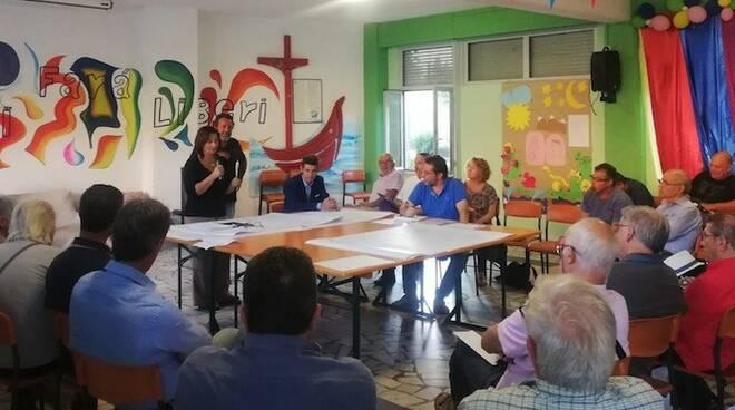 L'incontro tra amministrazione comunale e cittadini a Bonascola sul Poc