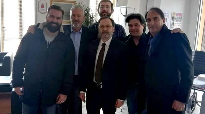 I capigruppo di maggioranza col sindaco Francesco Persiani