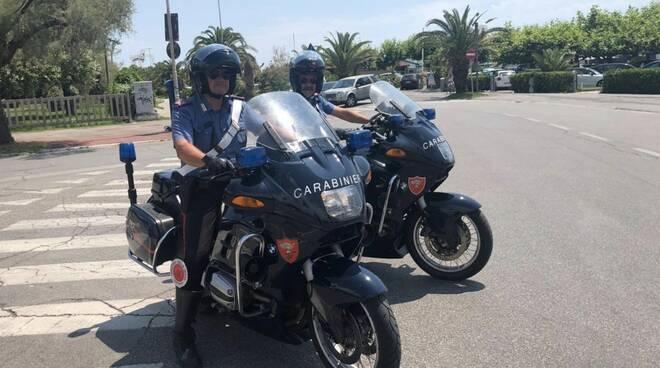 I carabinieri in moto