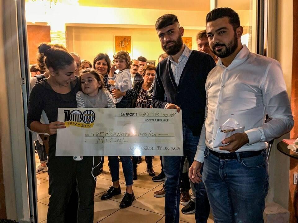 """""""La Massese fa 100 anni"""" raccoglie 4000 euro per Micol"""