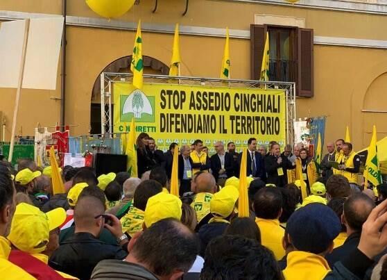 Anche Coldiretti Massa-Carrara alla protesta anti-assedio cinghiali di Roma