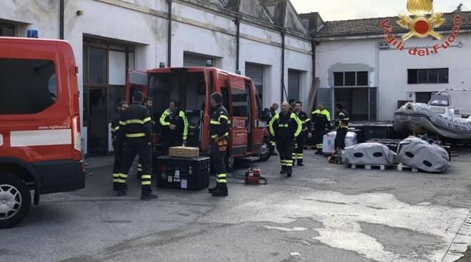 I vigili del fuoco toscani in partenza per l'Albania