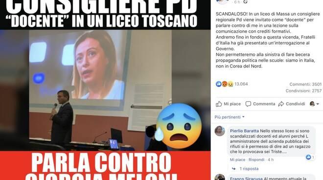 Il post pubblicato da Giorgia Meloni