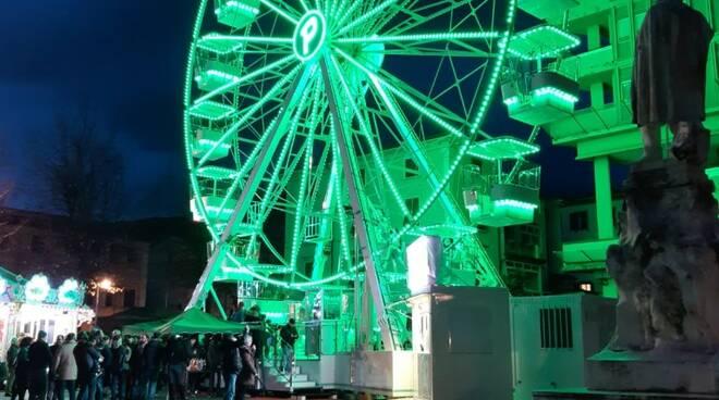 Inaugurazione ruota panoramica in Piazza Garibaldi