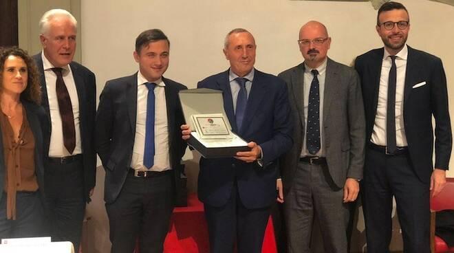 Giuseppe Baccioli ritira il premio per Carrara Marble Way