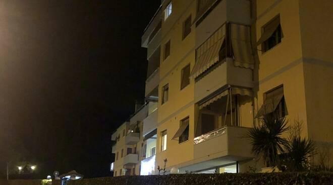 Il palazzo di Bonascola dove è avvenuto il furto