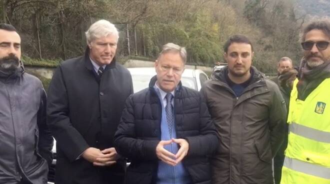 Il sindaco Valettini sul cantiere delle Lame coi tecnici Anas