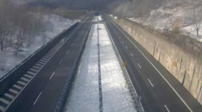 Nevicate sulla A15 della Cisa