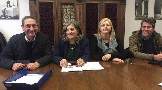 Da sinistra: Gianenrico Spediacci, Giuseppina Andreazzoli, Roberta Crudeli e Luca Barattini