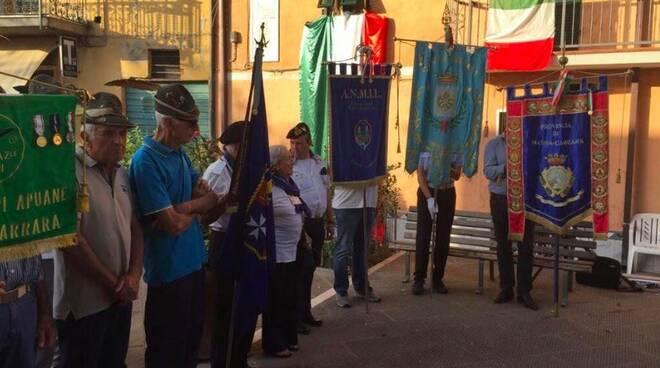 La commemorazione dell'eccidio di Castelpoggio del 2017