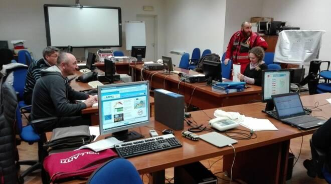 sala operativa protezione civile