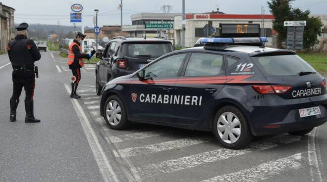 Controlli dei carabinieri in Lunigiana
