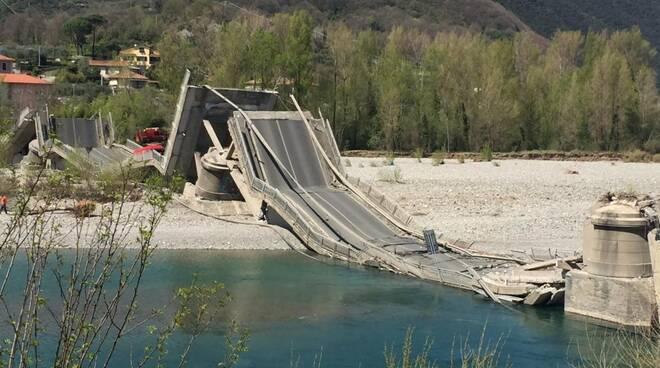 Crollo del ponte di Caprigliola