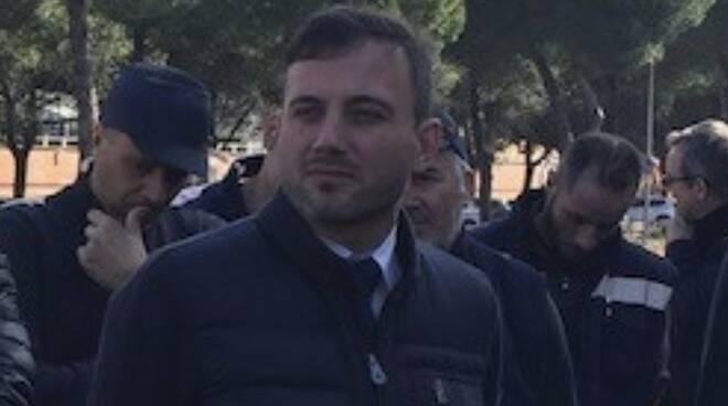 Giacomo Bugliani al presidio dei lavoratori Sanac