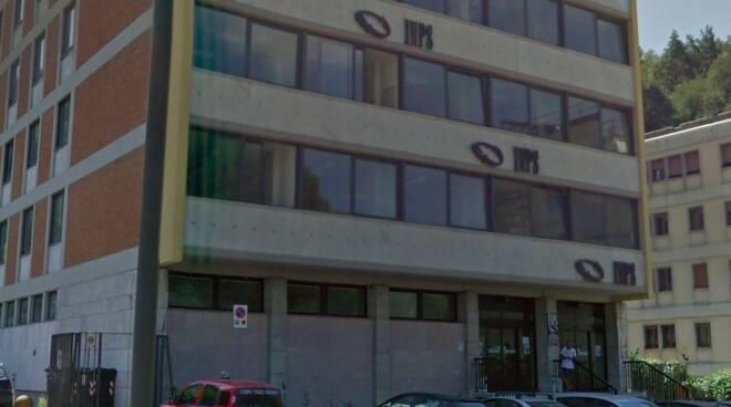 La sede Inps di Carrara