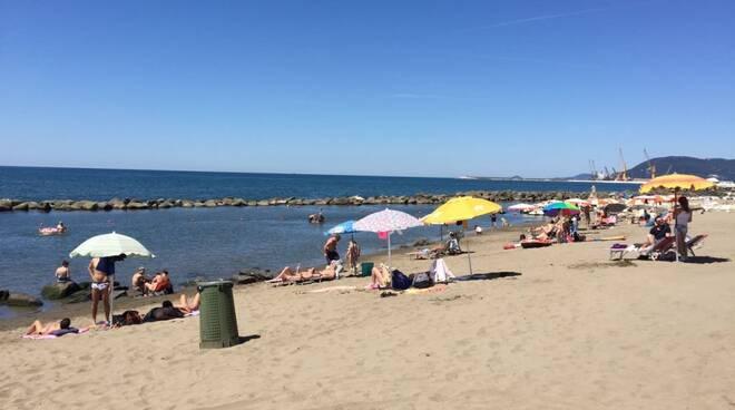 Una parte della spiaggia di Partaccia