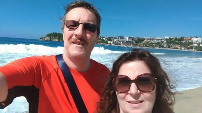 Guido Balloni e Marta Marchini in una foto dal Messico di due anni fa