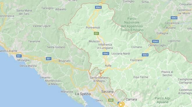 I confini della provincia di Massa-Carrara