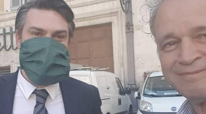 Riccardo Ricciardi ed Enrico Mentana
