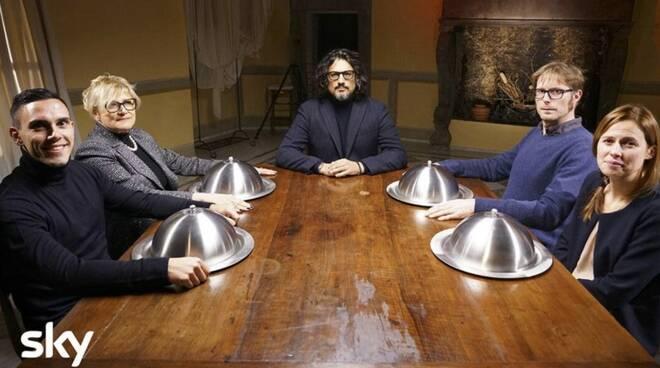 Alessandro Borghese coi 4 ristoratori lunigianesi