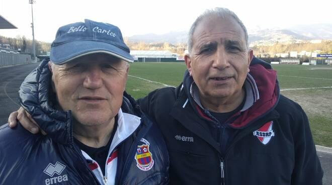 Antonio Nelli (diesse del River Pieve) e Enrico Galleni (tecnico del Forte dei Marmi)