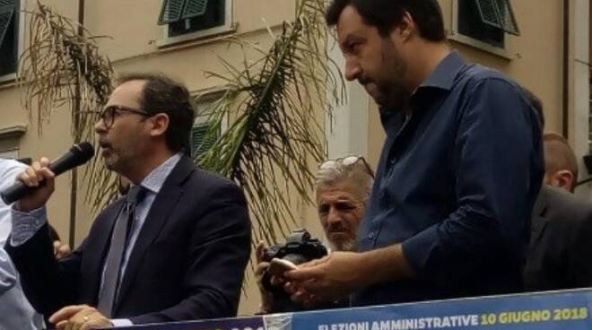 Francesco Persiani (a sinistra) con Matteo Salvini