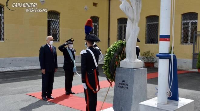 I 206 anni dei Carabinieri, la cerimonia a Massa