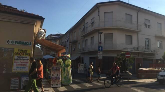 La fine della ztl in via Rinchiosa all'incrocio con via Venezia