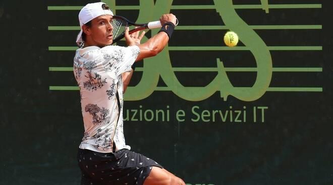 Lorenzo Musetti all'Aspria Tennis Cup di Milano