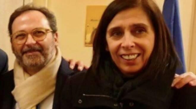 Il sindaco Francesco Persiani e l'assessore all'istruzione Nadia Marnica