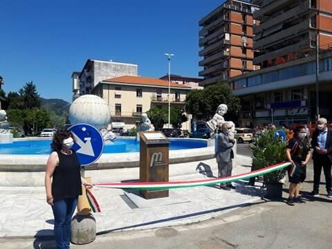 Inaugurazione della restaurata fontana di piazza Liberazione