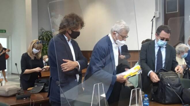 Marco Cappato in aula nel tribunale di Massa