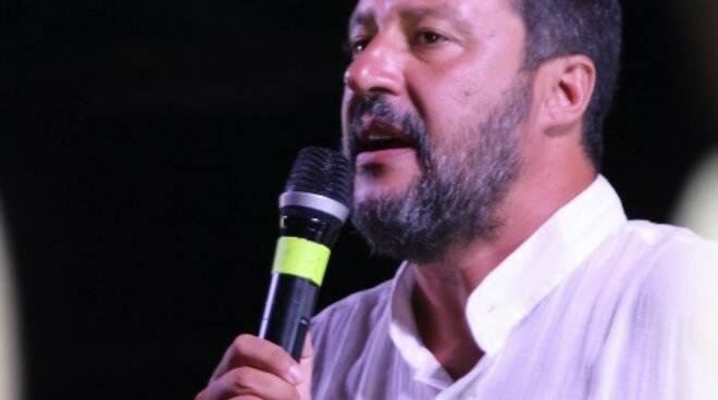 Matteo Salvini a Marina di Massa
