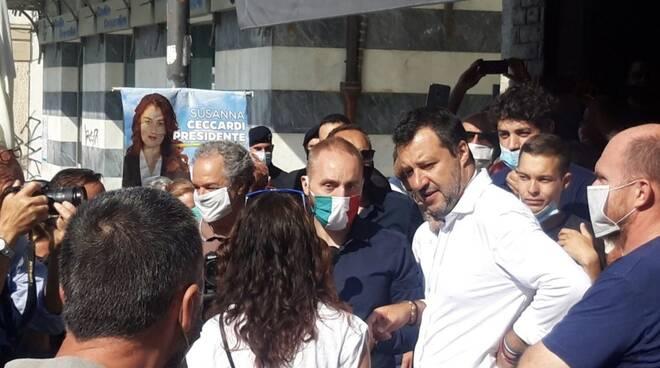 Matteo Salvini a Massa (07/07/2020)