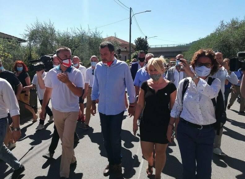 Matteo Salvini ad Albiano Magra