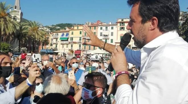 Matteo Salvini in una recente visita a Lerici