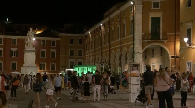 Piazza Alberica durante White Carrara Downtown 2020